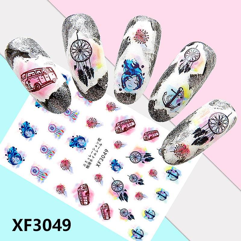 Meijin net red nail sticker Yanxi strategy expression pack drama facial makeup palace wind nail sticker Morandi color