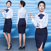 Professional attire temperament Goddess Fan Fashion Skillful Korean version of work hotel front desk beautician work suit suit