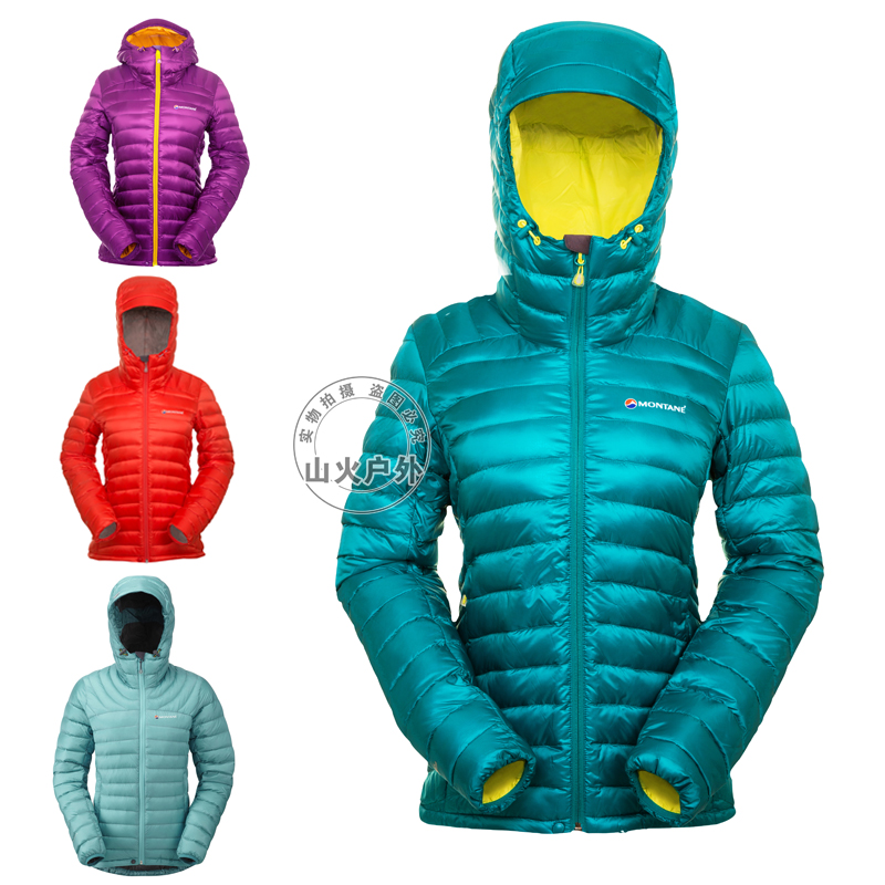 MONTANE FEATHERLITE Women New Hooded Down Jacket 750 Pole Water Resistant + RDS Down