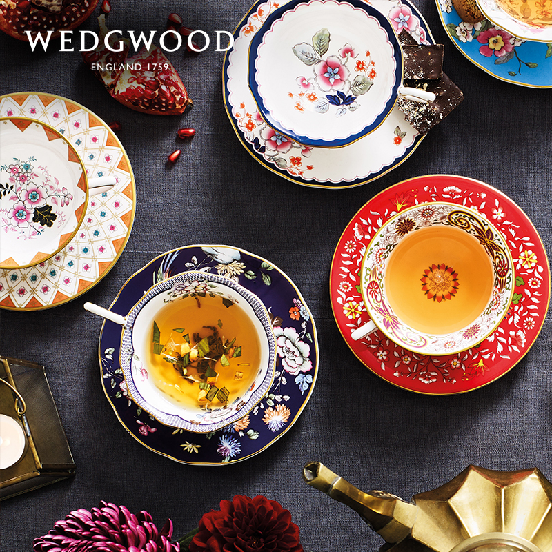 WEDGWOOD live roaming the United States cup disc bone porcelain coffee cup European small luxury coffee cup set