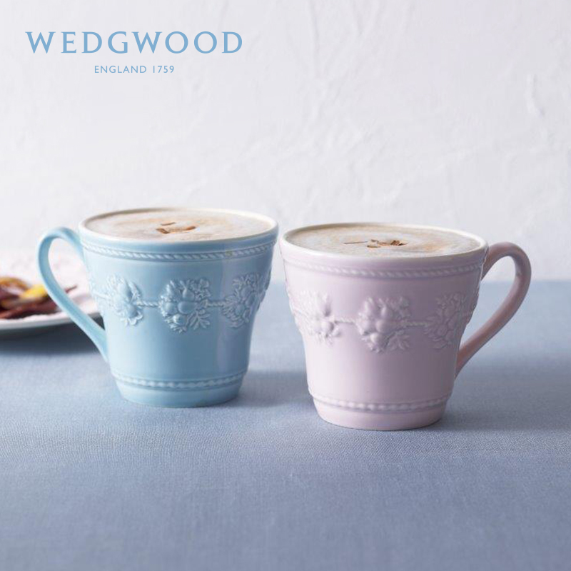 WEDGWOODs Live and Happy Holiday Series Couples Ceramic Cup Mark to Cup Retro Cup European Couples Cup
