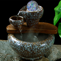 Fortune flow cornucopia ornaments feng shui rotation lucky crystal ball move new home gift housewarming gifts