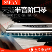 Swan harmonica playing SW1040 beginner 12 hole 48 tone SW1248 professional 16 hole 64 tone 1664