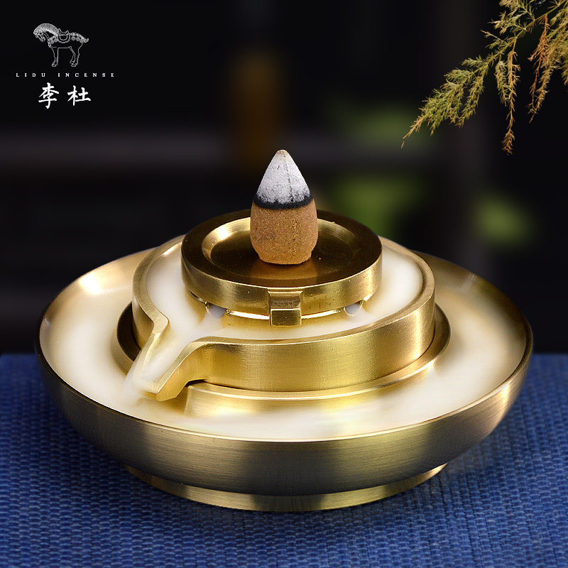 Li Du Pure Copper Reflux Fragrance Furnace Household Indoor Tea Road Copper Fragrance Furnace Sandalwood Flavor Reflux Fragrance Furnace Arrangement
