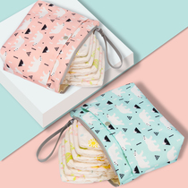 Baby diapers bag out portable diapers diapers bag baby 牀 bottle clothes urine not wet bag