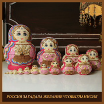 Set of 15 authentic products 20 layers Girl baby toy wooden handmade gift Russian set baby