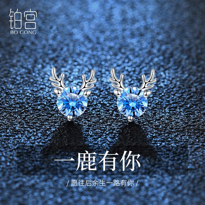Un cerf vous a boucles doreilles en argent sterling ongles féminité boucles doreilles 2021 nouvelle tendance incrusté Swarovski zirconium cadeau danniversaire
