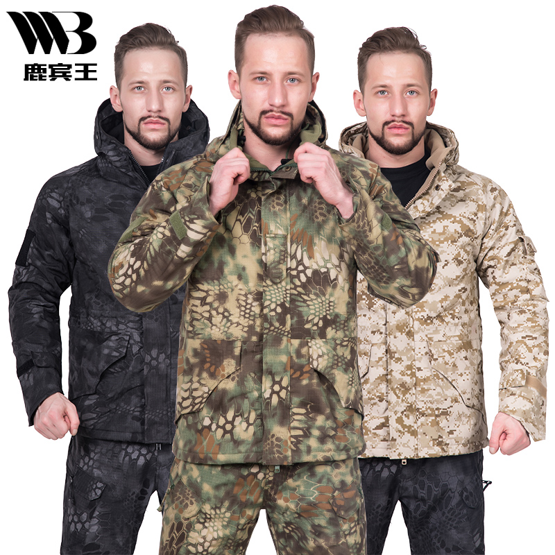 Army fan outdoor Python pattern camouflage G8 Jackets men thick windbreaker fleece warm jacket winter camouflage tactical clothing