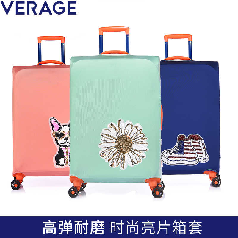 Verage Villiger Wear-resistant Suitcase Cover Luggage Protective Cover Pull-rod Suitcase Cover Dust-proof Cover 20/24/28