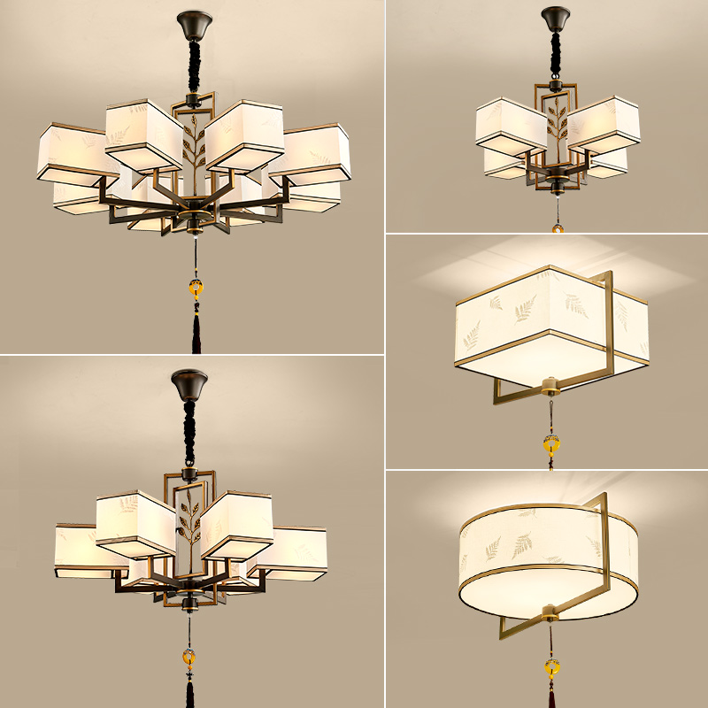 New Chinese chandelier living room lamp 2019 new modern simple bedroom dining room lamp retro Zen Chinese wind lamps