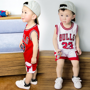 Children summer suit two pieces Childrens Boys 1-3 years old infant sport Jersey baby basketball clothing