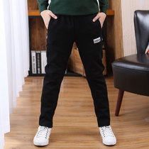 Boys sweatpants spring and autumn models in the autumn and winter childrens leisure trousers 12 boys pants plus velvet 15-year-old childrens pants
