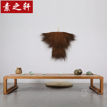 New Chinese Zen Old Elm Coffee Table Tea Table short a few Kang table floating window table low table solid wood Japanese tatami coffee table