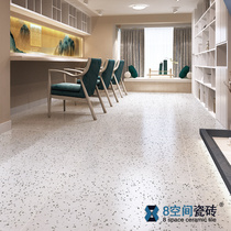 8 Space grey granular terrazzo floor Tiles 600 Guest restaurant clothing store chain tile kitchen wall Tiles