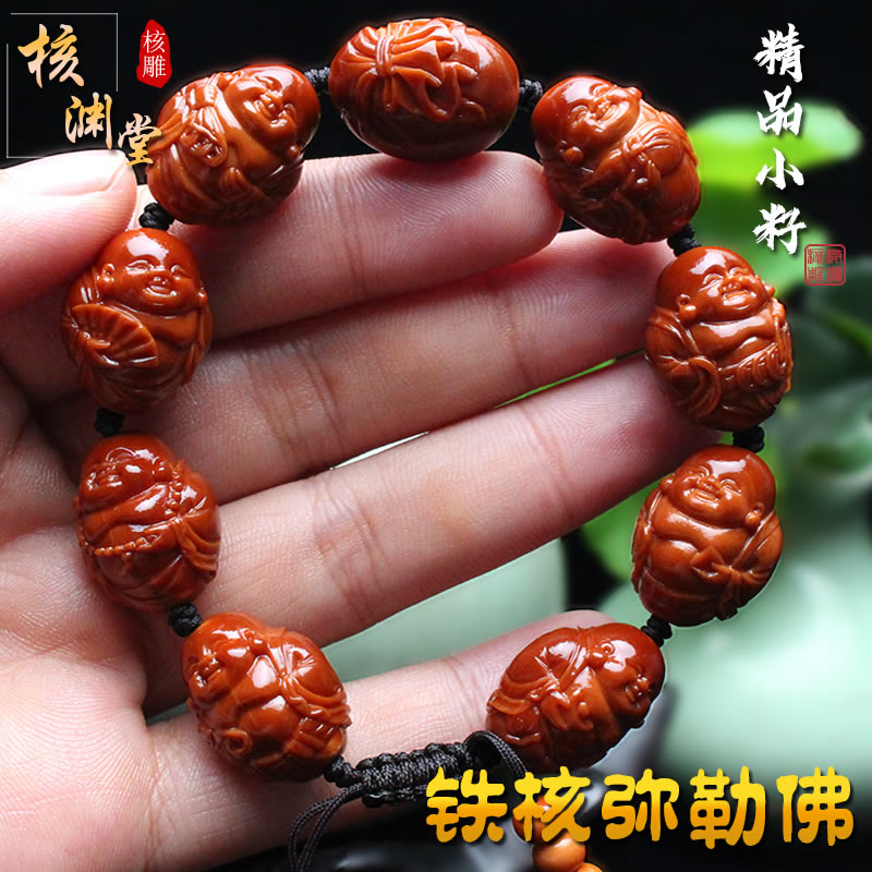 Sugong olive core carving small seed iron core pure hand-made octabao Mil little Buddha olive hu boutique male woman hand string