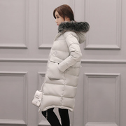 A season down jacket Ms. in the long section of code mm fat thin thick winter coat's knee in South Korea