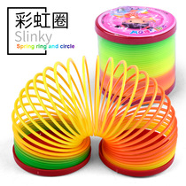 Magic Rainbow Circle Spring Circle Stacked music luminescent large plastic ring children adult puzzle classic Nostalgic toys
