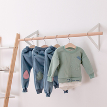 Nordic simple wind custom-made children's clothing shop hanger display rack solid wall wall hanging hanger