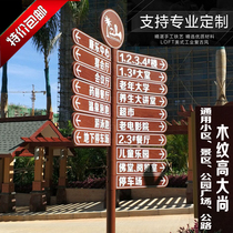 Custom vertical guide signs Real Estate Community Park Plaza scenic spot guide signs road Wanxiang shunt signs