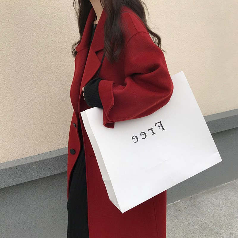 2020 Korean version of the winter red coat female medium-long version loose temperament small thick double-sided velvet jacket girl