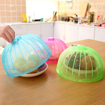 3 pcs round mini food cover food cover fly cover table cover foldable plastic small dustproof