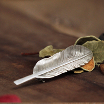 Different Joy Hall original design handmade silver Angel Feather 99 sterling silver brooch pin autumn and winter gifts