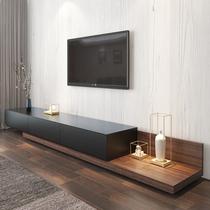 Выдвижной телевизионный шкаф журнальный столик комбинация среднего и малого дома Nordic гостиная телевизор шкаф простой современный черный настенный шкаф