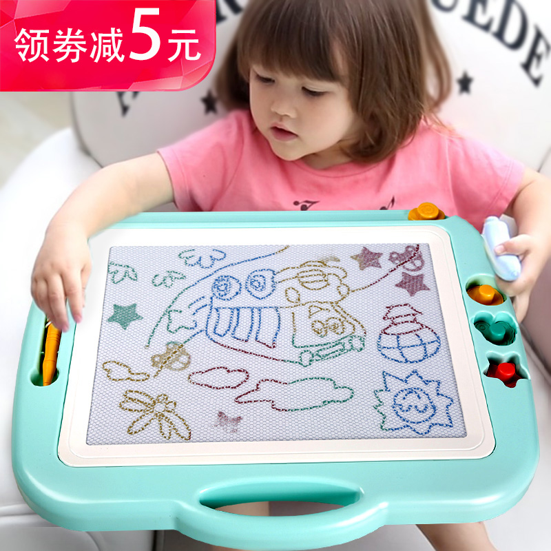 Kiwi children's drawing board magnetic writing board graffiti board magnetic baby large color 1-3 year old 2 toys