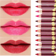 Matte lip pencil matte painting lip pencil lipstick pen Retro Red Bean aunt bite lips waterproof