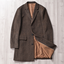 Boutique alpaca cashmere woolen wool blended coat