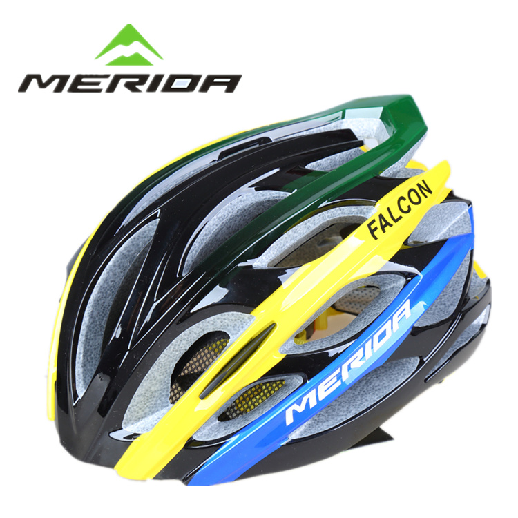 Official Falcon Edition Merida Riding Helmet Integrated Formation Mountain Road Vehicle Safety Hat Belt Insect-proof Network
