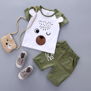The boy set summer style 2017 0-1-2-3-4 years old children's clothes in summer shorts + Korean tide clothing