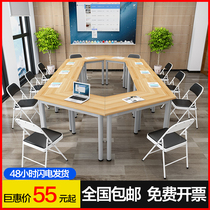 Splicing Meeting Table Childrens Group Activity Table extracurricular tutoring class training table Kindergarten reading room Double desk
