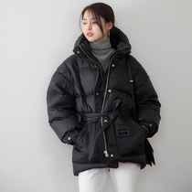 Counter Korean version of the new winter lace cap short paragraph down jacket female light warm white duck fashion coat