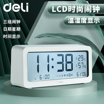 Powerful alarm clock students with electronic big clock small creative simple personality childrens bedroom 牀 head Nordic style girl