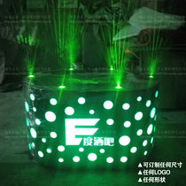 Bar luminescent stage Laser dot Platform DS Nightclub can move point stage colorful lights rotate new atmosphere table