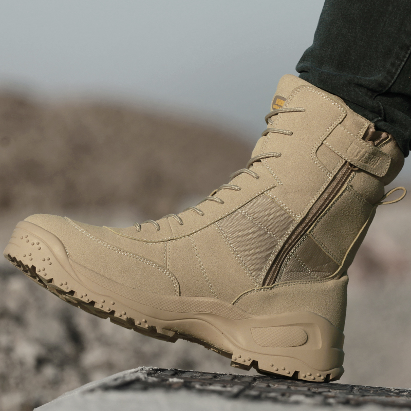 Dunlang Spring New Type Combat Boots, Men's Boots, Special Soldier's Shoes, Desert Tactical Boots, Ultra-light Outdoor Hiking Shoes