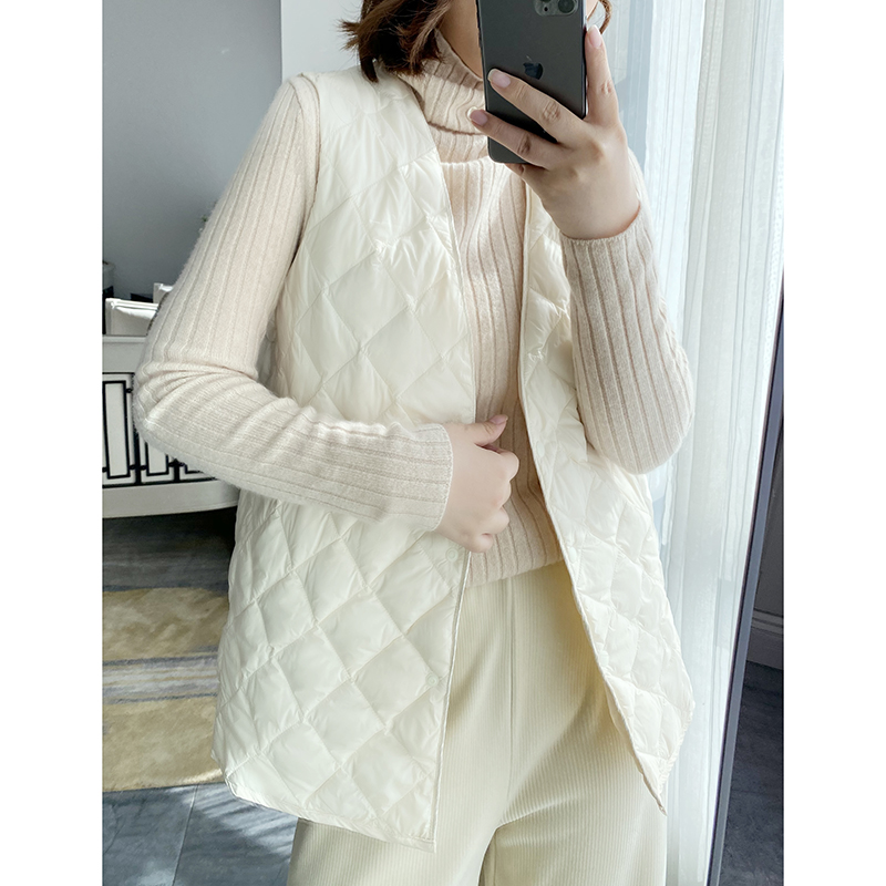 Xuan Xuan homemade 2020 light and thin coat with 90% white goose down down vest womens vest jacket
