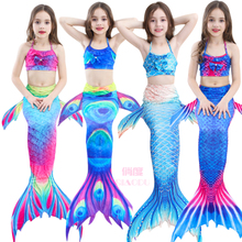 Mermaid tail Swimsuit Dress split girl swimsuit suit children dress Princess bikini girl swimsuit