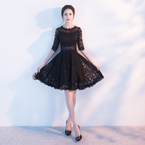 Autumn and winter fashion elegant show slim lace party self-cultivation small dress