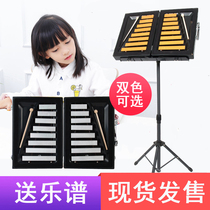 DL Small Zhong Qin olf early Education kindergarten double row 16 tone children percussion instrument aluminum piano hand knock small bell piano