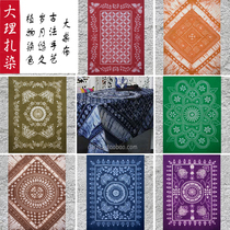 Yunnan ethnic characteristics Handicrafts Dali Bai tie-dyed bed linen Dinner table cloth Hanging cloth multi-color optional
