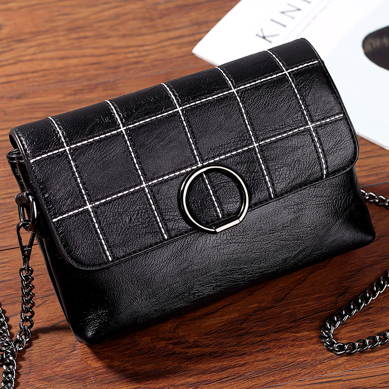 Tonglin Chain Bag Autumn and Winter Bag Woman Mini-square Bag