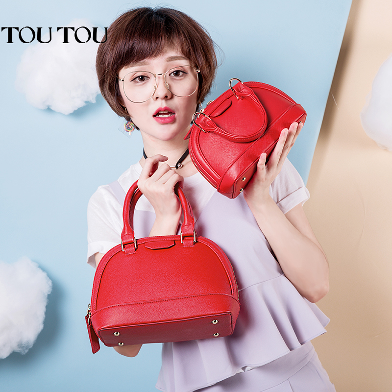 Women's Bag 2019 New Autumn and Winter Baitie High-grade Ocean-style Handbag Mini-inclined Bag Lady's Shell Bag