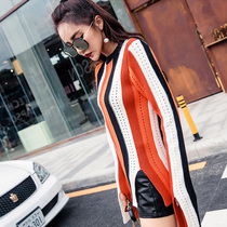 Striped T-shirt loose winter sweater