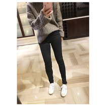 DM your little black trousers! 17 Chao Bullet----black and white--Autumn and winter style thickening feet