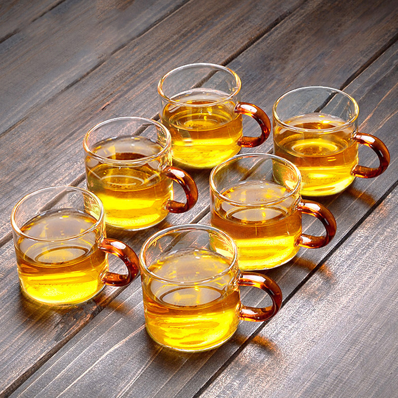 Small glass kung fu teacuff glass small teacuff 6 only packed with the tasting cup small cup small transparent