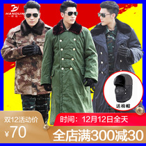 Hummer Army coat Mens cotton coat winter thickening long special forces cold protection cotton clothing desert camouflage coat