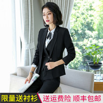 Professional suit fashion autumn and winter temperament goddess fan ladies high-end interview work suits dress college students Korean version