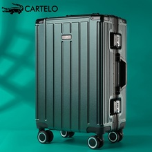 Luggage net red ins fashion men and women 20 inch universal wheel 24 inch trolley case aluminum frame travel case password board case